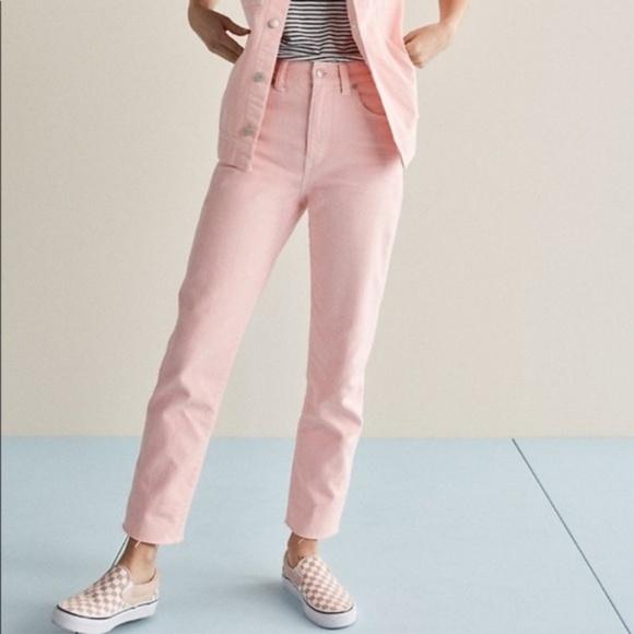Madewell Denim - NWT Madewell High-Rise Light Pink Raw Hem Jeans